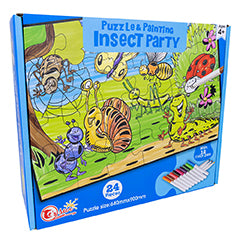 "Puzzle ""Insect Party"" Pintar c/ 12 Marcadores (24 Peças) - ProFTC"