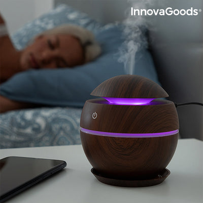 Mini Humidifier Scent Diffuser Dark Walnut InnovaGoods.
