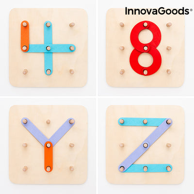 Wooden Set for Making Letters and Numbers Koogame InnovaGoods 27 Pieces.
