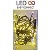 Serie Easy-Connect 60 LEDs Natal Branco Q. 3000K 30V 60W IP44 Interior/Exterior (4 mts) - EDM