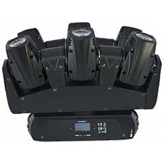 Moving Head (6 Cabeças) BEAM RGBW 60W LED DMX - ACOUSTIC CONTROL