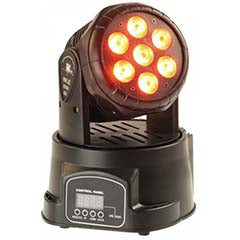 Moving Head 7 LEDs WASH CREE 10W RGBW DMX - ACOUSTIC CONTROL