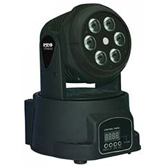 Moving Head WASH RGBW 60W LED DMX c/ Efeito Laser Verde 30mW - ACOUSTIC CONTROL