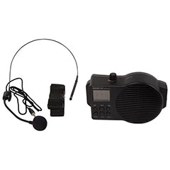 Microfone Headset c/ Coluna Amplificada, USB/SD e Radio FM - HQ POWER