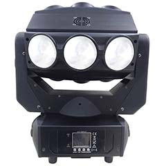 "Moving Head LEDs ""4-EM-1"" 9x 12W CREE RGBW DMX - POWER LIGHTING"
