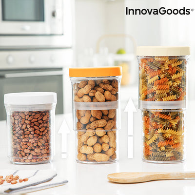 InnovaGoods Size-Adjustable Containers (Set of 3).