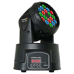 Moving Head LED Wash RGB 18x 3W DMX - beamZ