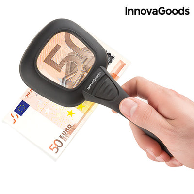 InnovaGoods Ultraviolet and LED Magnifying Glass 3X.