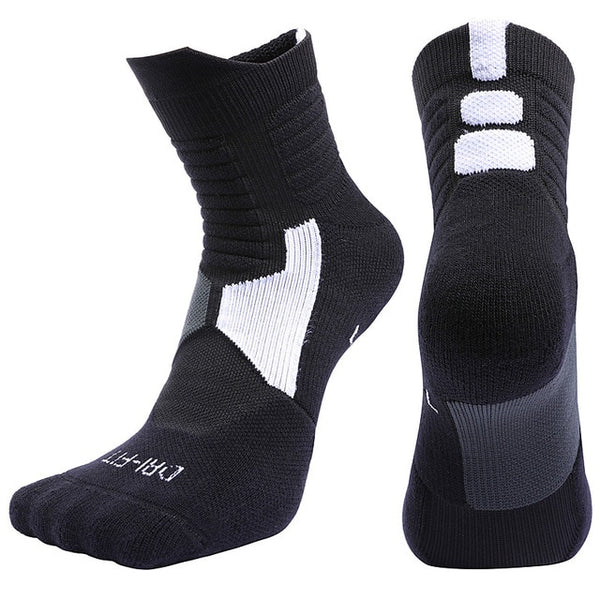 High Quality New Men Outdoor Sports Elite Basketball Socks Men Cycling Socks Compression Socks Cotton Towel Bottom Men's socks