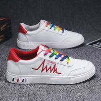 Men shoes spring tide shoes work leather casual shoes waterproof shoes Korean version of board shoes student shoes white shoes