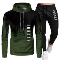 White Black Men Hoodies Set Fashion 2020 Autumn Brand Casual Tracksuit Mens Set Sports Two Piece Patchwork Hoodie Pant Male Suit