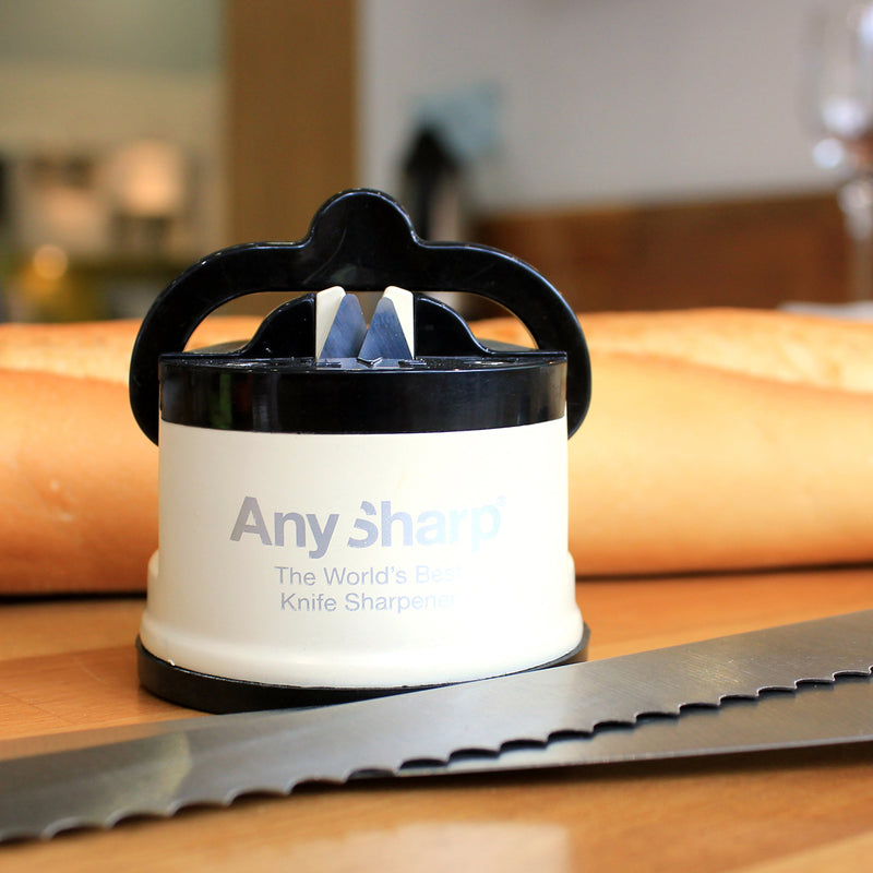 AnySharp Pro World's Best Knife Sharpener, Cream