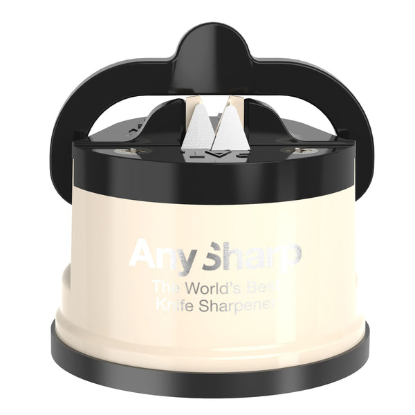 AnySharp World's Best Knife Sharpener, Cream