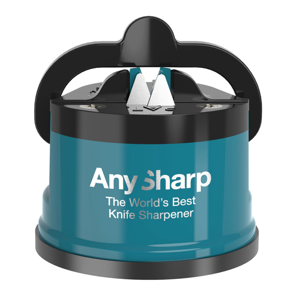 AnySharp World's Best Knife Sharpener, Teal