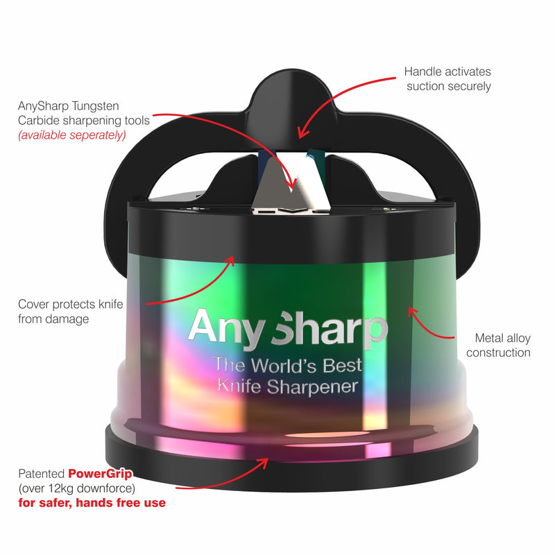 AnySharp Pro World's Best Knife Sharpener, Oil Slick