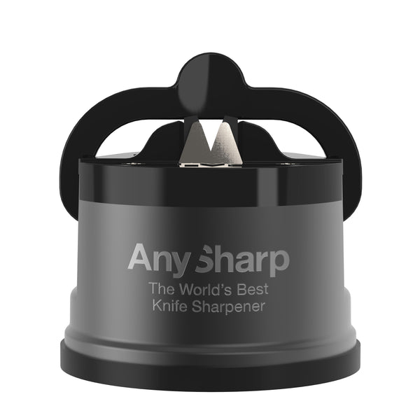 AnySharp Pro World's Best Knife Sharpener, Gun Metal