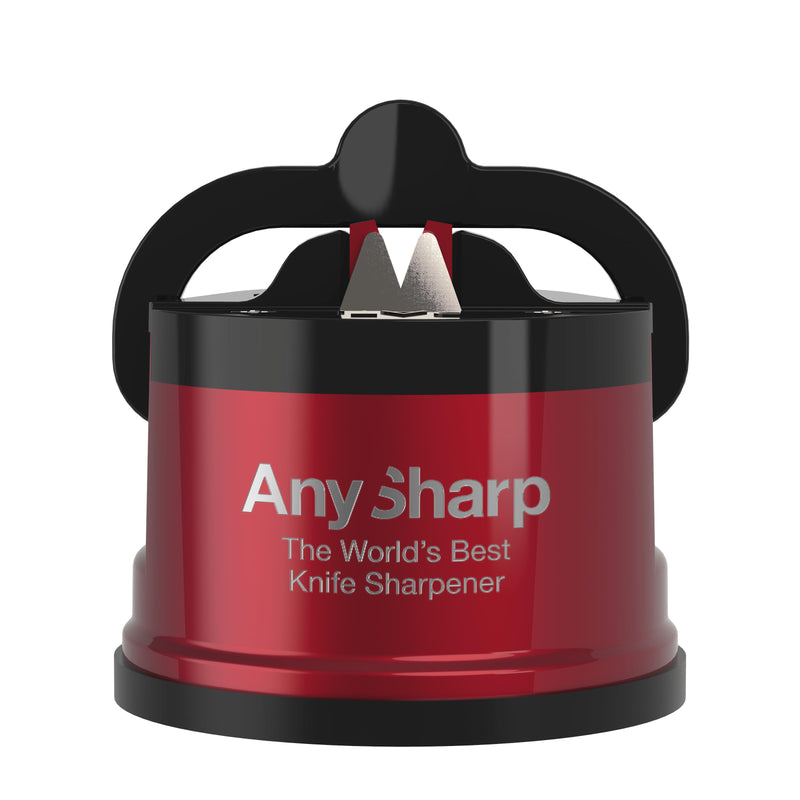 AnySharp Pro World's Best Knife Sharpener, Red