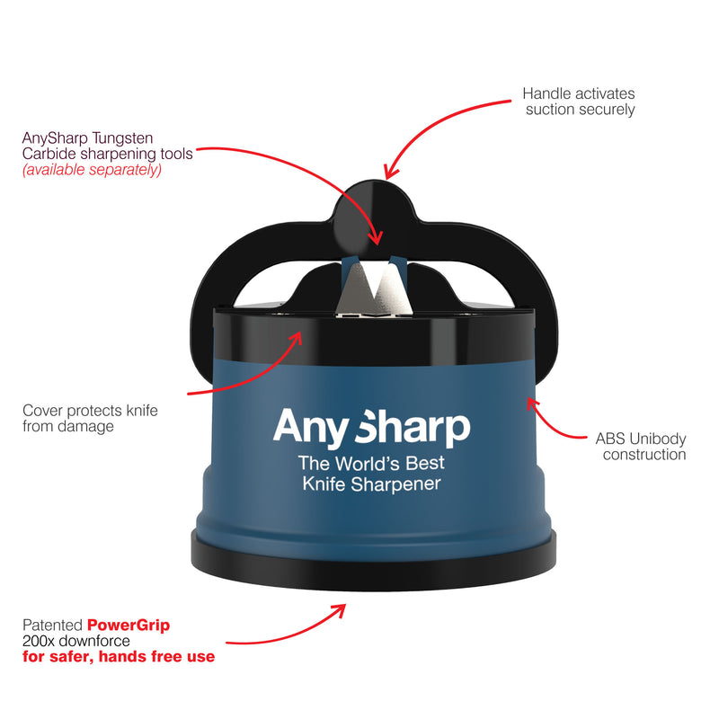 AnySharp World's Best Knife Sharpener, Blue