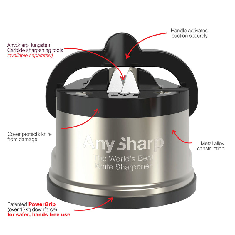 AnySharp Pro World's Best Knife Sharpener, Brass