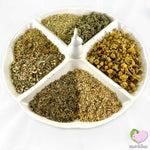 Immune Kicker Mix for rabbits, guinea pigs, chinchillas, hamsters, degus and gerbils with Echinacea, Fennel, Raspberry Leaves, Strawberry Leaves, Chickweed, Yarrow Flowers and Chamomile