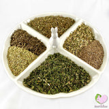 Potpourri with Herbs with Plantain, Nettle, Dandelions, Dill and Fennel for rabbits, guinea pigs, chinchillas, hamsters, degus and gerbils