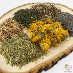 The Shire Mix with Birch Bark, Calendulas, Dandelion Root, Lavender, Nettles, Shepards Purse for rabbits, guinea pigs, chinchillas, hamsters, degus and gerbils