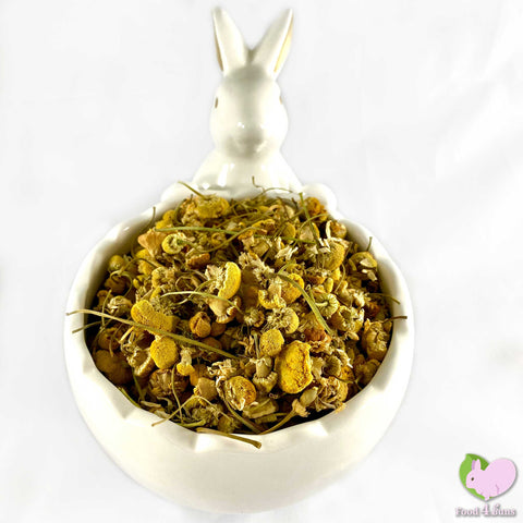 Chamomile flowers whole, pedals and buds, yellow for rabbits, guinea pigs, chinchillas, hamsters, degus and gerbils