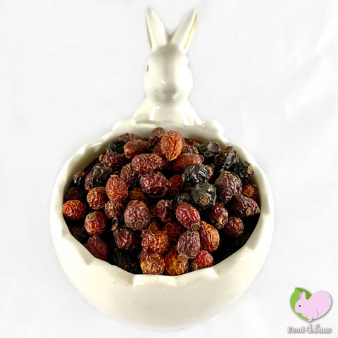 Rosehips whole, dried and organic for rabbits, guinea pigs, chinchillas, hamsters, degus and gerbils