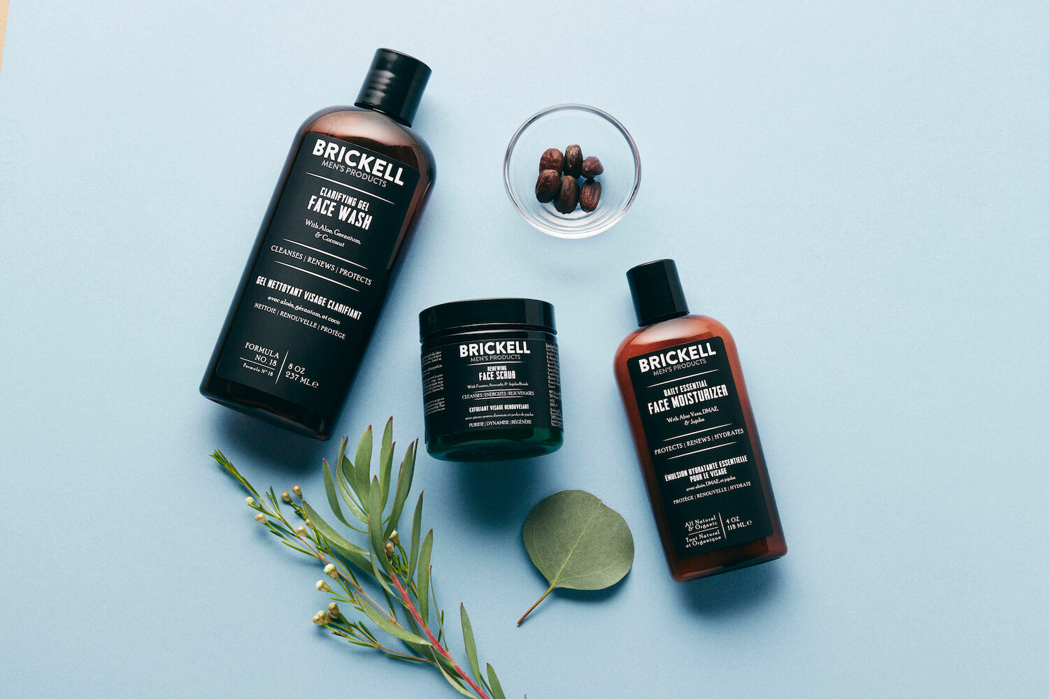 Skincare products for men made with antioxidants