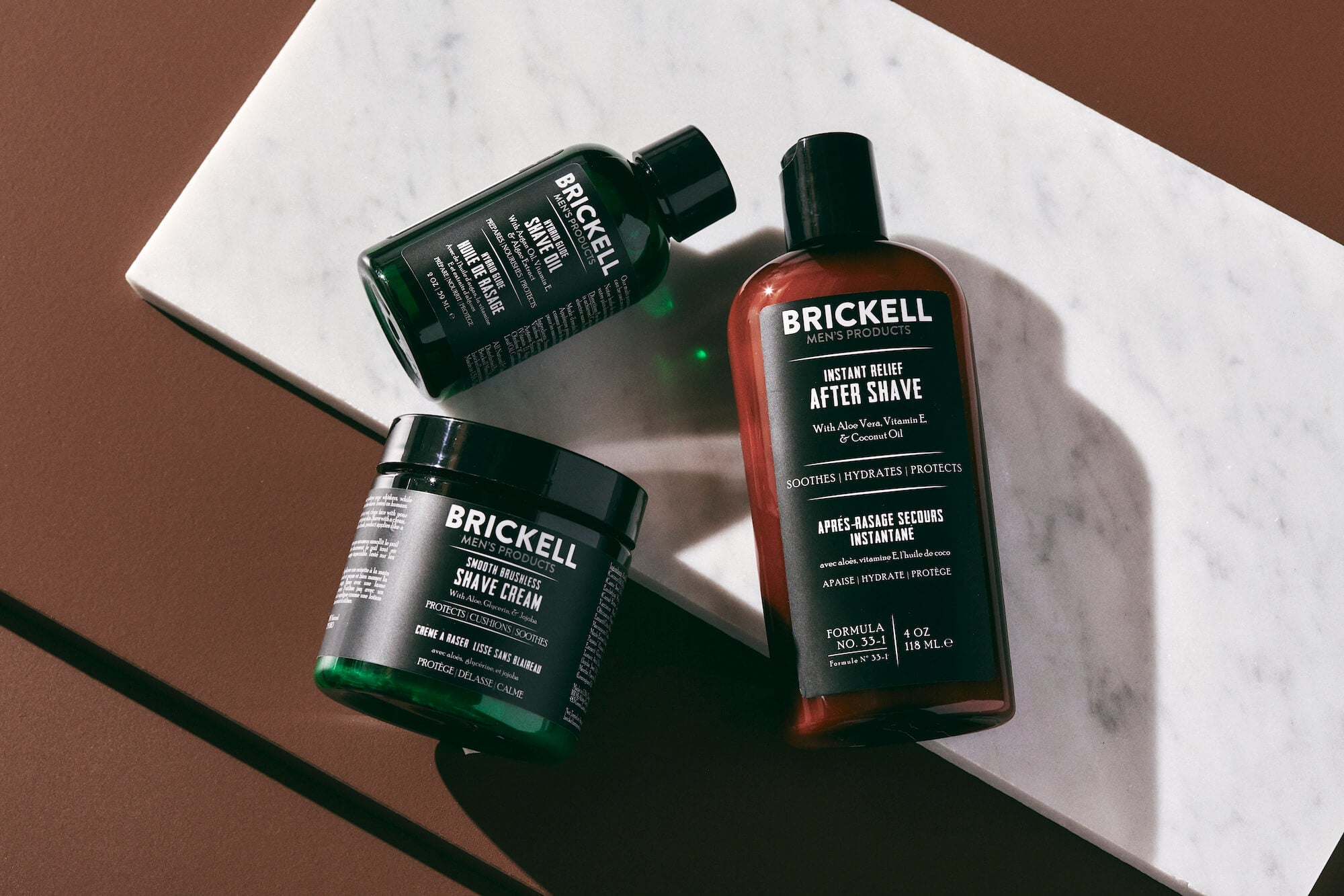 Natural shave products for men