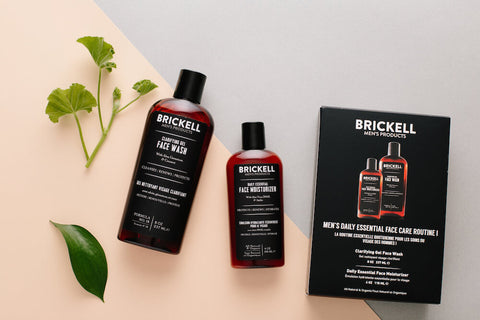 simple men's face care routine