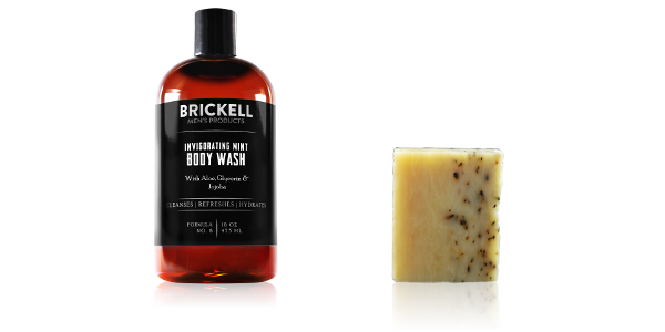 Natural body wash for men and natural soap for men