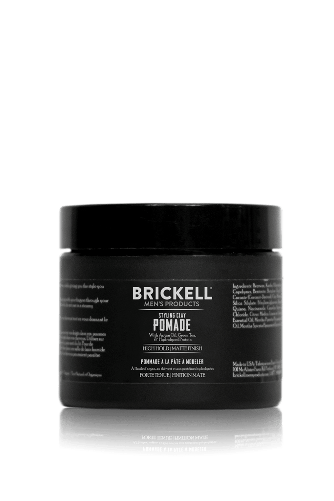 Best Natural Pomade for men Brickell Mens Products Styling Clay Pomade