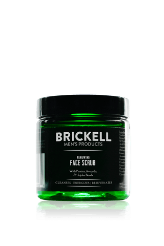 Brickell Men's Renewing Face Scrub for Men
