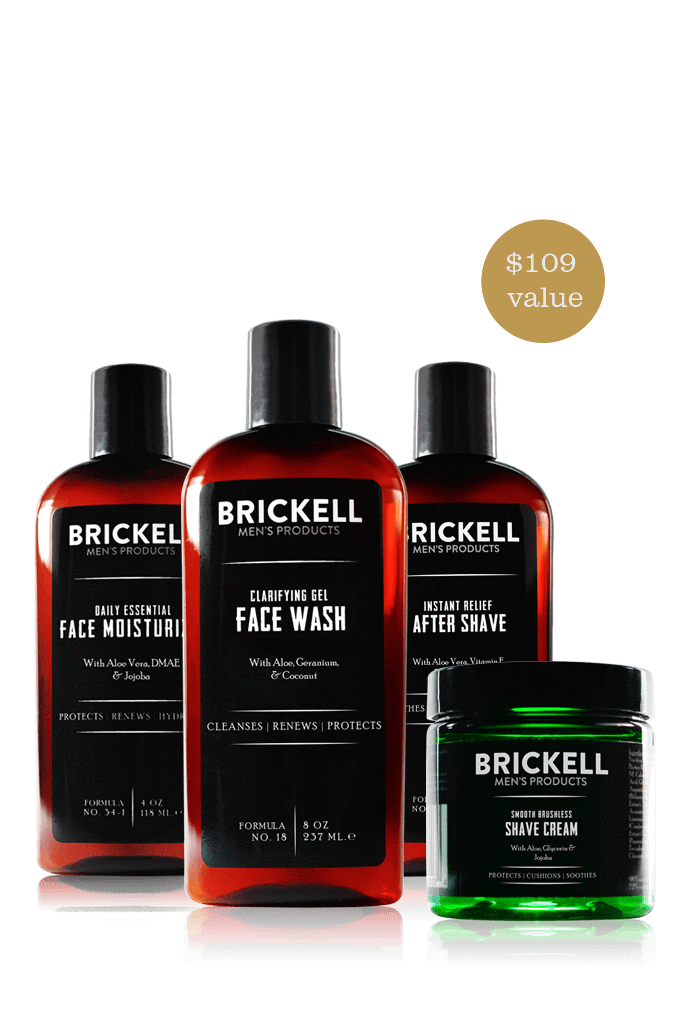 Men's Skincare Kit - Face Wash for men, face moisturizer, shave cream men