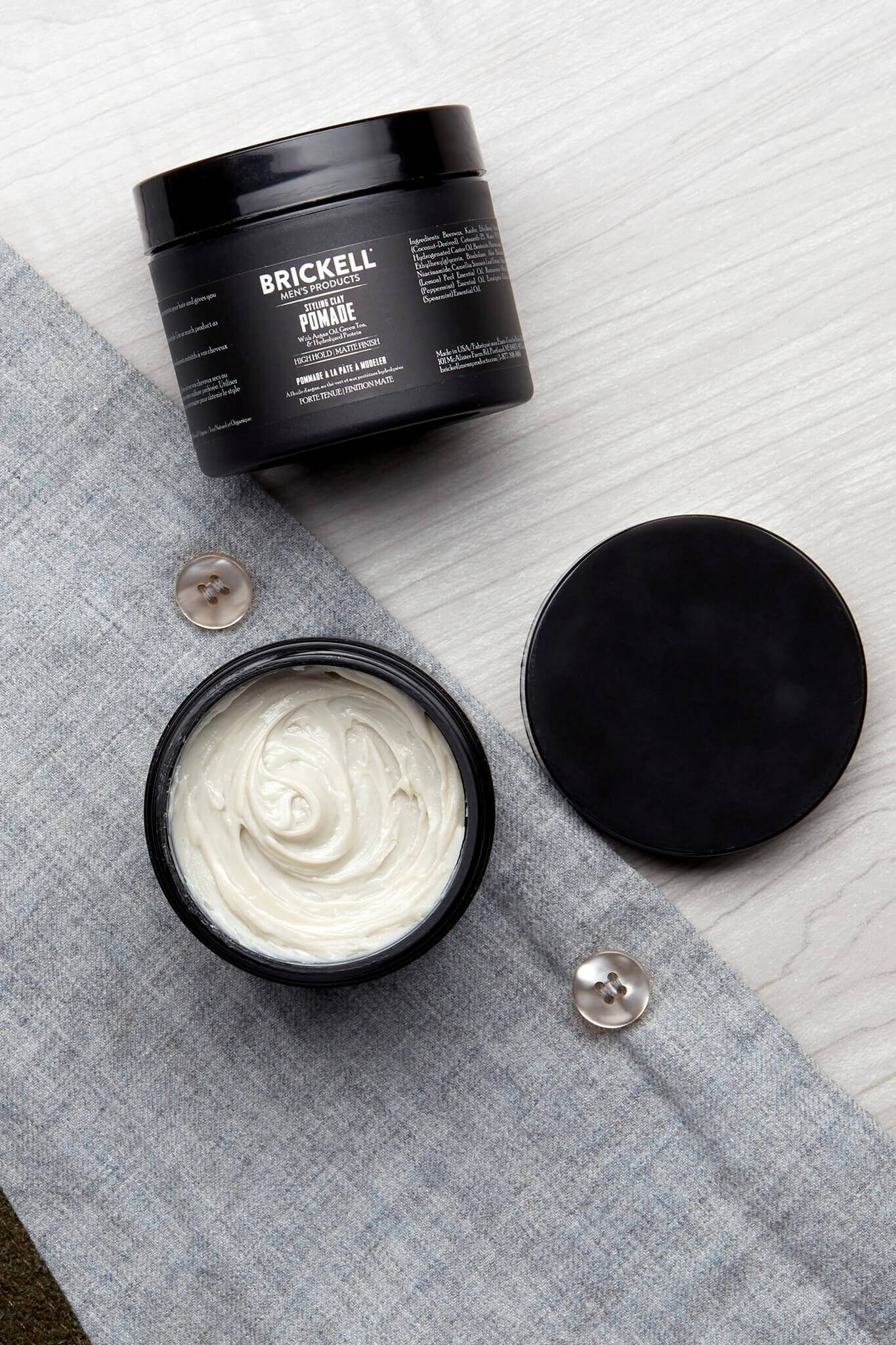 Best Clay Styling Pomade For Men Brickell Men S Products