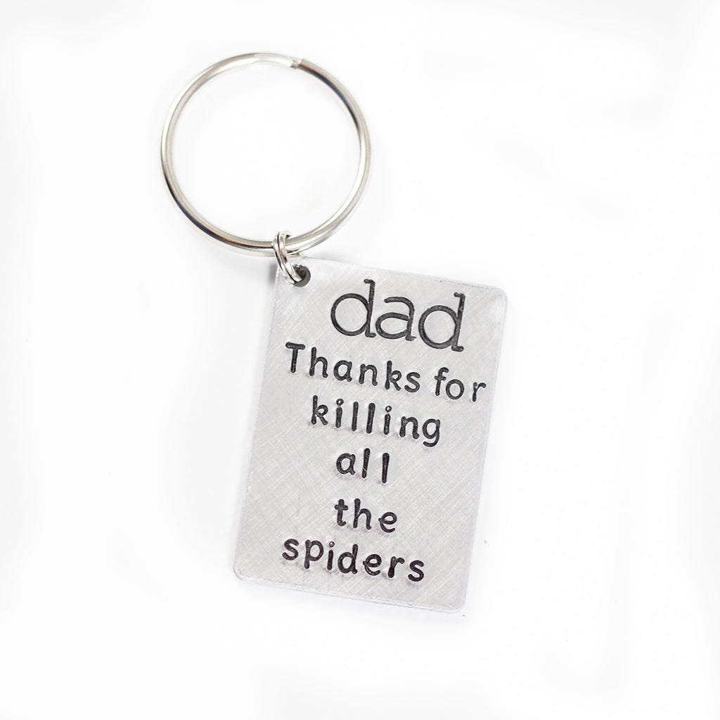Dad Spiders Key Chain Father's Day Gift