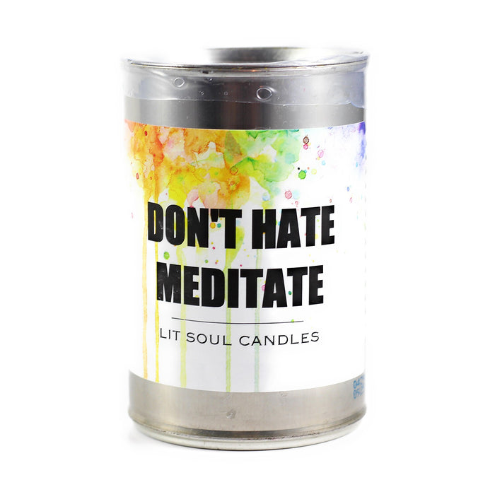 Don't Hate Meditate Inspirational Candle - 15.5 oz
