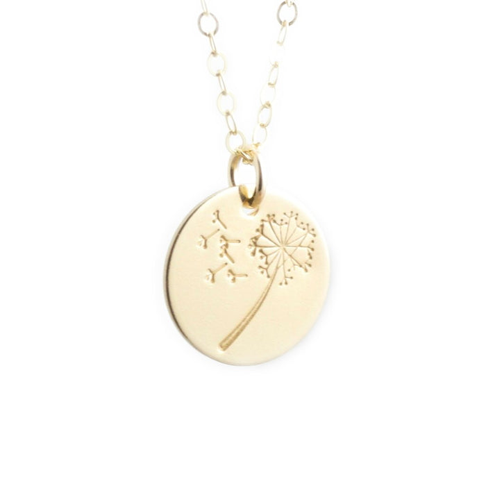 Gold Dandelion Necklace