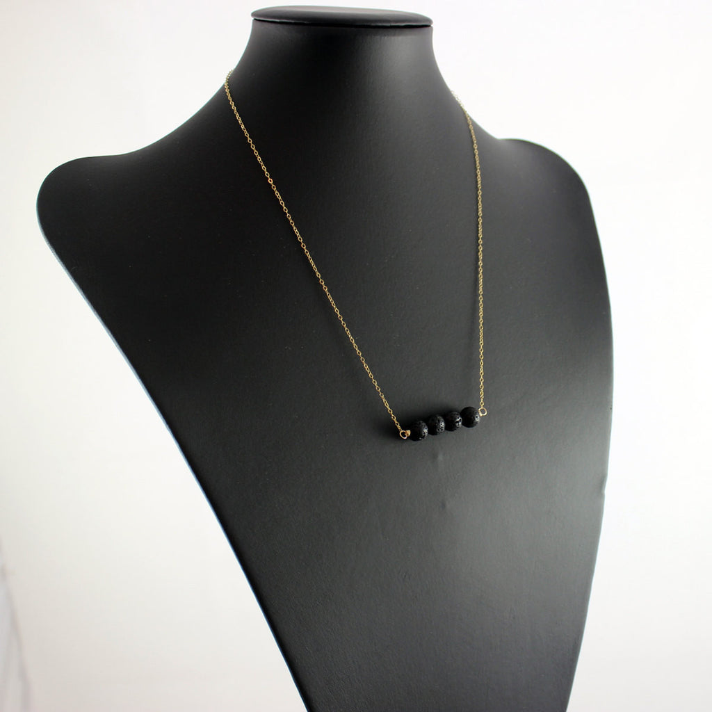 Black and Gold Bar Necklace - As Worn on Quantico