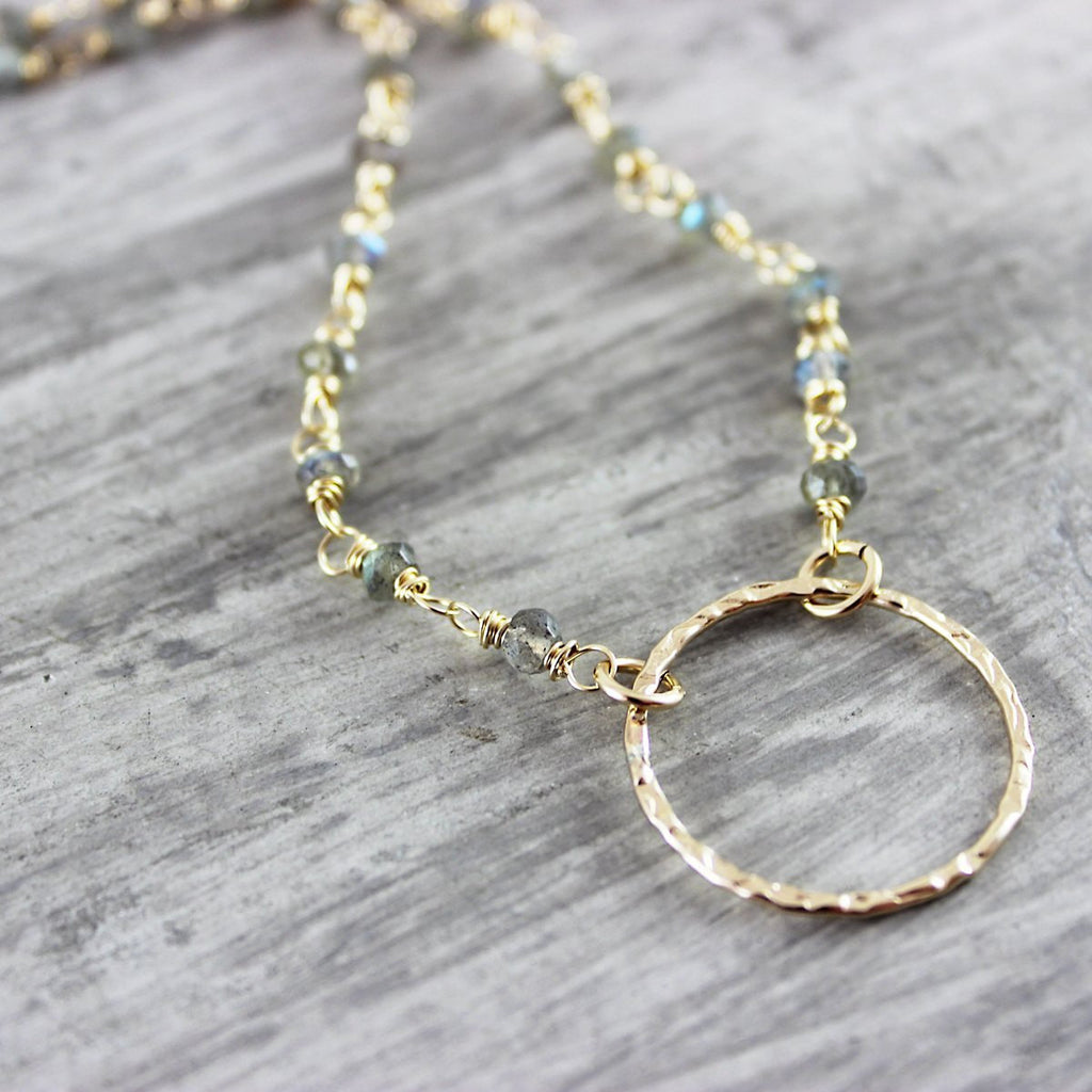 Labradorite Beaded Necklace - As Worn on The Fosters