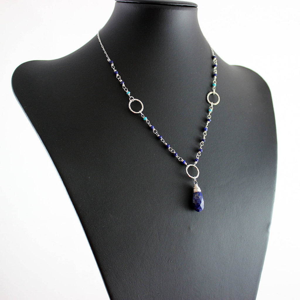 Lapis and Turquoise Necklace - As Worn on The Vampire Diaries