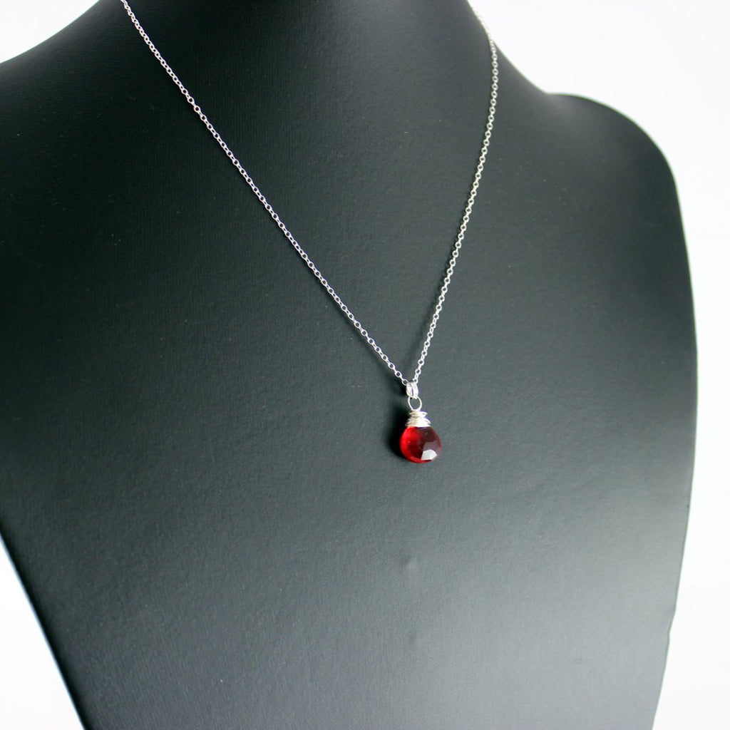 Apple Red Sterling Silver Necklace