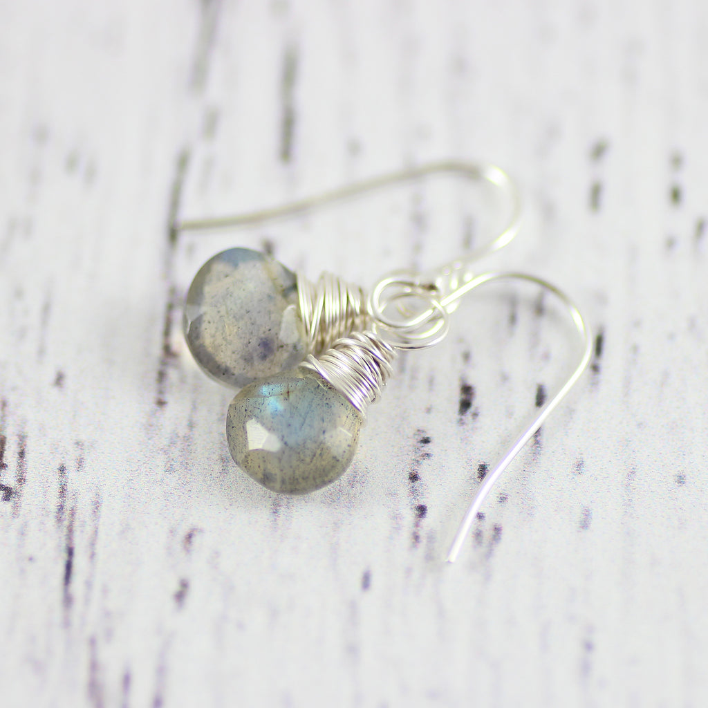 Labradorite Sterling Silver Gemstone Drop Earrings