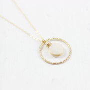 White Druzy Geode Gold Wedding Bridal Necklace