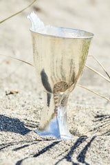handcrafted sterling silver wine chalice with fern fiddlehead
