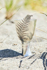 Hand raised sterling silver wine chalice, made in portland maine