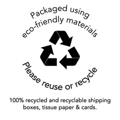Eco friendly, plastic-free shipping from DMG Designs, 100% recyclable and recycled content shipping