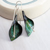 Peace Lily Dangles - Green Copper
