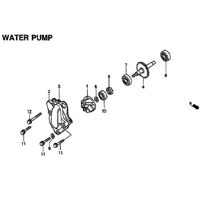 WATERPUMP CR 80/85